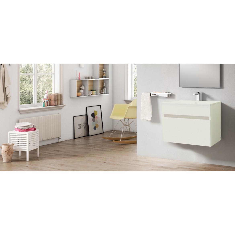 Mueble de Baño Essentials Blanco de 60 cms. con Lavamanos Encimera SX8. Sonia
