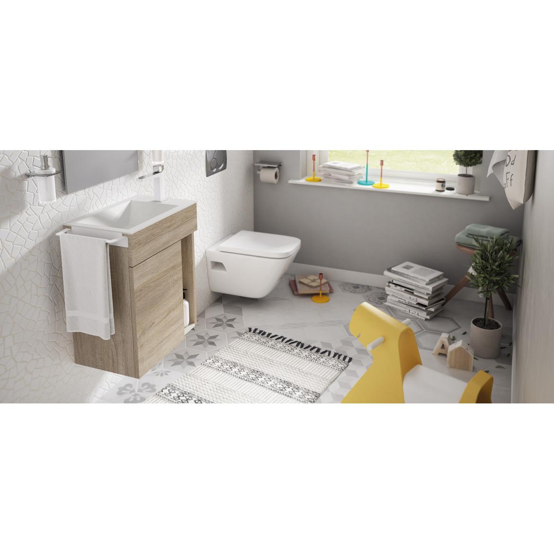 Mueble de Baño Puzzle Oakwood de 50 cms. con Lavamanos Encimera MX4. Sonia.